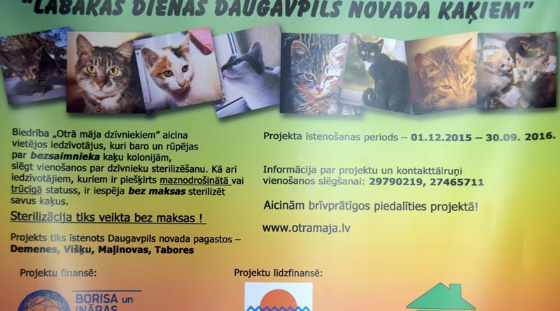 """Projekts """"Labākas dienas Daugavpils novada kaķiem"""""""
