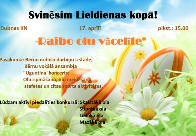 Svinēsim Lieldienas kopā!!!